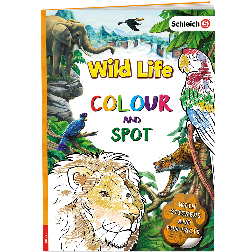 Schleich 174 Wild Life My Wild Life Colouring Book Ameet