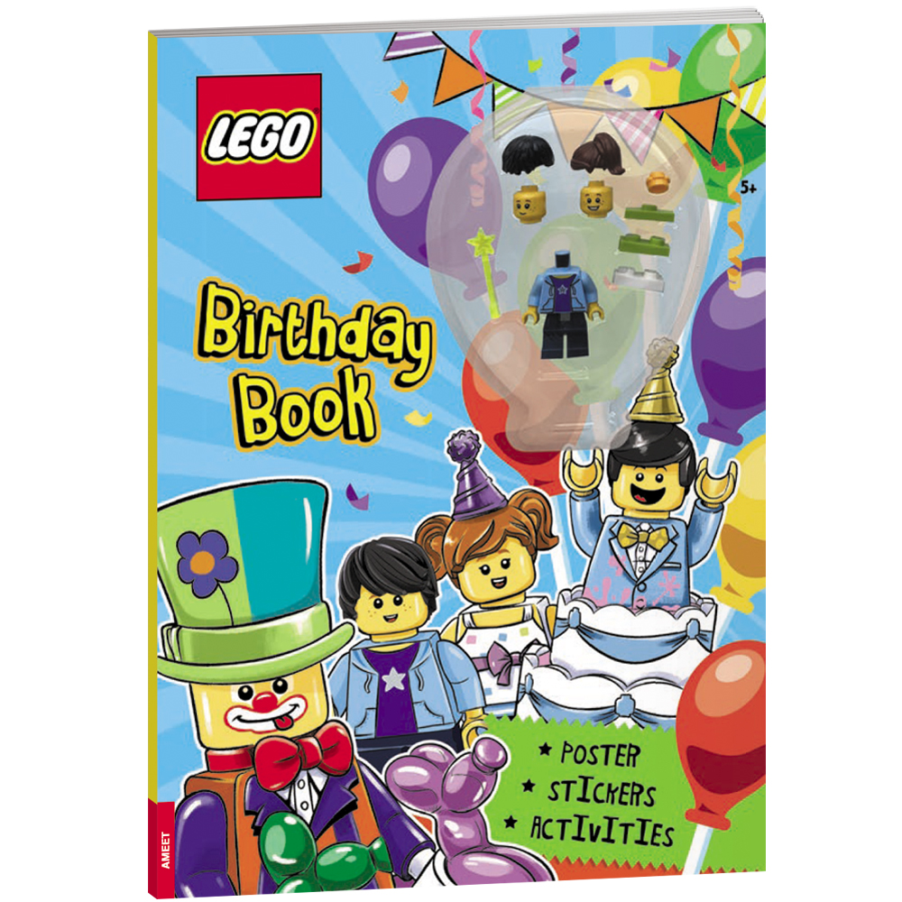 LEGO birthday book minifigure